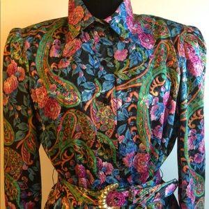 Vintage Paisley Lady Carol of New York Dress